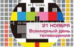 Поздравления на Всемирный день телевидения в прозе