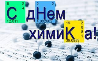 Когда День химика 2020 — 31 мая