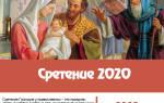 Поздравления на праздник «Сретение Господне 2020»