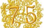 Поздравления с 75-летним юбилеем