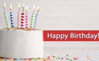 Побажання на день народження (українською мовою)