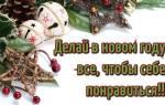 Прикольные короткие новогодние пожелания