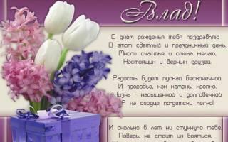 Поздравления с днем рождения Владе