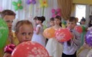 Выпускной в детском саду «Прощай, садик»